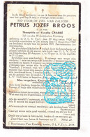 DP Petrus Jozef Broos / Crabbé 18j. ° OLV Tielt Tielt-Winge 1924 † Ottenburg Huldenberg 1942 - Devotion Images