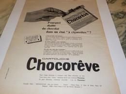 ANCIENNE PUBLICITE CARTOUCHE CHOCOREVE 1966 - Posters