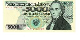 Poland P.150 5000 Zlotych 1982 Unc - Poland