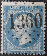 22 Déf, Obl GC 1360 Dun-le-Palleateau (22 Cotes Du Nord ) Ind 4 ; Frappe Très Nette & TB Centrée - 1849-1876: Klassik