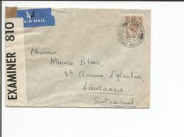 Angleterre, Lettre Censure, Tunbridge Wells - Lausanne CH (24.3.1941) - Postmark Collection