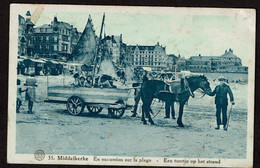 Middelkerke - En Excursion Sur La Plage - Een Toertje Op Het Strand - Circulée - Edit Librairie Internationale - 2 Scans - Middelkerke