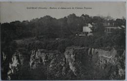 C. P. A. : 33 GAURIAC (Gironde) : Rochers Et Chênes Verts Du Château Poyanne, Timbre En 1926 - Andere Gemeenten