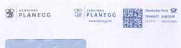 718  Hibou: Ema D'Allemagne 2013, Enveloppe à En-tête - Owl  Meter Stamp  From Planegg, Germany - Owls