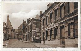 02 Aisne - MARLE - La Rue Notre Dame Et La Poste - TàD Poste Aux Armées 2 10 39 - - Autres Communes