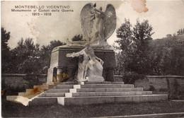 MONTEBELLO VICENTINO - MONUMENTO I CADUTI GUERRA 1915 - 1918 - FORMATO PICCOLO - VIAGGIATA 1927 - (rif. Q60) - Vicenza