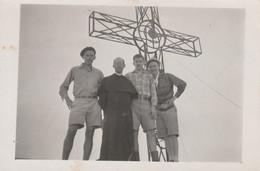 12165.  Fotografia Vintage Gruppo Sul Monte Velino 1950 Croce  Masse D'albe - 9,5x6,5 - Luoghi