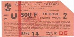 FOOTBALL/TOURNOI 1001/ STADE DU HEYSEL/18 AOUT 1980 - Biglietti D'ingresso