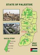 Palestine State Map New Postcard Palästina Landkarte AK - Palestina