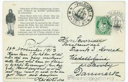 NORWEGEN FRAM-Karte POLHAVET AMUNDSEN 13.11.1913 Nach DÄNEMARK   Norway Denmark - Covers & Documents