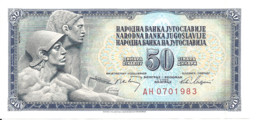 YOUGOSLAVIE 50 DINARA 1968 UNC P 83 - Yugoslavia