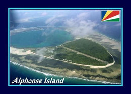 Alphonse Island Aerial View Seychelles New Postcard Seychellen AK - Seychelles