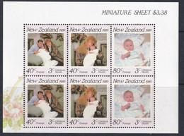 NEW ZEALAND 1989 HEALTH STAMPS DUKE AND DUCHESS OF YORK SG M/S 1519 MNH. - Ungebraucht