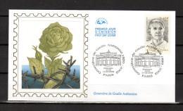 """"""" GENEVIEVE DE GAULLE """" Sur Enveloppe 1er Jour Sur Soie De 2003 N° YT 3544  En Parfait état. FDC - De Gaulle (Generale)"""