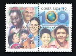 Costa Rica 2002 OPS Costa Rican People Block 4 MNH - Costa Rica