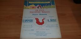"""PARTITION MUSIQUE """"Le P'tit Poisson Rouge, E. SPENCER, Orchestre Tzigane"""" - Musica Popolare"""