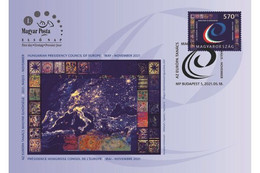 Hungary.2021.Hungarian Presidency Of The Council Of Europe.FDC - FDC