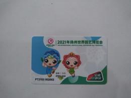 China Transport Cards, China T-Union, Expo 2021 Yangzhou, For Bus, Metro, Etc.., Yangzhou City,  (1pcs) - Non Classificati