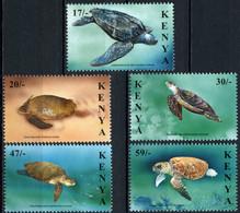 Kenya 2000 MiNr. 736 - 740  Kenia Reptiles Turtles Marine Life 5v MNH** 12.00 € - Maritiem Leven