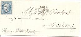 INDRE ET LOIRE (36) LSC De LA HAYE-DESCARTES  GC 1772 Sur NAP Pour POITIERS - 1849-1876: Klassieke Periode