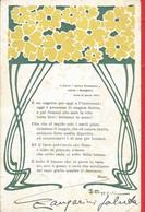 """CART. DISEGNATA FIRMATA CC BONFIGLIOLI IL CARRO """"ARRIVA PRIMAVERA"""" SALUTA I BOLOGNESI ... VIAGGIATA PRIMI 1900   (337) - Altre Illustrazioni"""