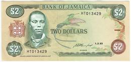Jamaïque - Billet De 2 Dollars - Paul Bogle - 1er Février 1993 - P69e - Neuf - Giamaica