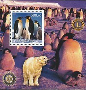 TURKMENISTAN 2001 MANCHOTS PINGOUINS PENGUINS PINGUINS  - LIONS International - Behoud Van De Poolgebieden En Gletsjers