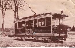 AB. Tirage D'après Une Photo D'un TRAMWAY De La Compagnie Des Tramways Mécaniques Des Environs De Paris (en L'état) !.. - Tramways