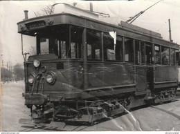 AB. Tirage D'après Une Photo TRAMWAY  Compagnie Des Tramways Mécaniques Porte De Neuilly (en L'état) !.. - Tramways
