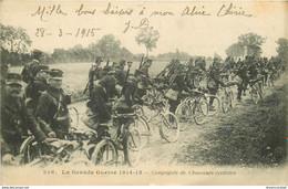 GUERRE 1914-18. Compagnie De Chasseurs Cyclistes 1915 - Regiments