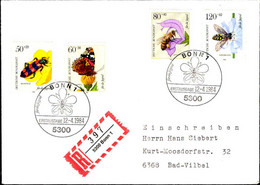 RFA Poste Obl Yv:1034/1037 Für Die Jugend Insectes Fdc 12-4-1984 - Lettres & Documents
