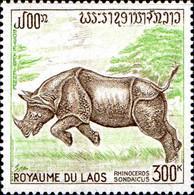 Laos Avion N** Yv: 83 Mi:322 Rhinoceros Sondaicus - Laos
