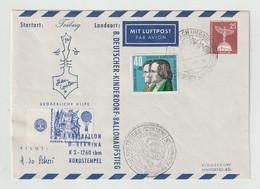 """Berlin - 1961 - Privatganzsachenumschlag """"Kinderdorf-Ballonpost"""" Mit BRD-Zusatzfrankatur (Mi. 325) (049) - Buste Private - Usati"""