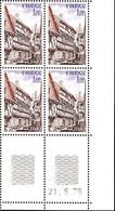 France Poste N** Yv:2041 Mi 2161 Yv:2 Euro Auray (4x Coin Daté 21-6-79) - Nuovi