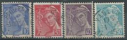 France  N° 546 à 549  Obl - 1938-42 Mercure