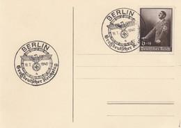 Blanko Sonderstempelbeleg 1940: Berlin: Großdeutscher Reichstag 19.7.1940 - Unclassified