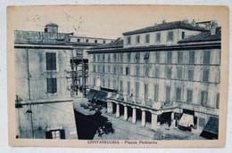 CIVITAVECCHIA - PIAZZA PLEBISCITO (INSEGNE F.S. BIGLIETTI FERROVIARI E LIBRERIA) 1928  X NOTARESCO - Civitavecchia