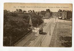 Ref 202 - CALAIS - Perspective Du Boulevard Jacquard - Vue Prise Du Théâtre De L'Alhambra - Timbre Jeux Olympiques 1924 - Calais