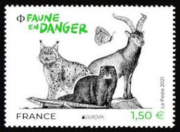 France 2021 - La Faune En Danger. ** (EUROPA) - Nuevos