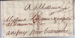 Marque Postale DE TOULOUSE ( Lenain 2a ) Lettre Du 6 Avril 1707 Texte De 3 Pages , TRES BONNE DATE !!!!! - 1701-1800: Precursors XVIII