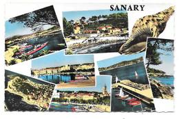 83 - Souvenir De SANARY - Multi Vues - Ed. ABEILLE-CARTES N° CC Colorisée - Coquillage - Sanary-sur-Mer