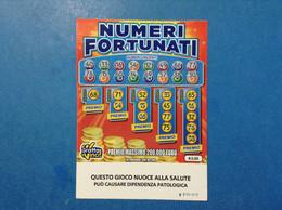 ITALIA BIGLIETTO LOTTERIA GRATTA E VINCI USATO € 3,00 NUMERI FORTUNATI LOTTO 3003 SERIE EE VARIANTE SENZA LOGO A TIMONE - Billetes De Lotería