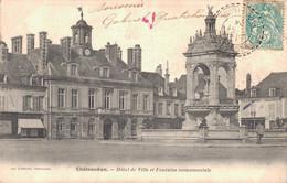 28 CHATEAUDUN HOTEL DE VILLE ET FONTAINE MONUMENTALE - Chateaudun