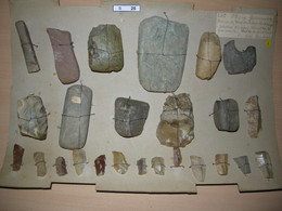 S025, Steinzeit, 25 Werkzeuge, Neolithikum, Süddeutschland, Faustkeil, Klingen - Archaeology