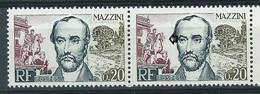 [48] Variété : N° 1384 Mazzini Main Du Cavalier Et Museau Du Cheval Absents Tenant à Normal ** - Varietà: 1960-69 Nuovi