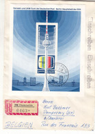 Allemagne - République Démocratique - Lettre Recom De 1969 - Oblit Finsterwalde - Télévision - Valeur 30 Euros - Brieven En Documenten