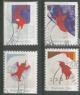 USA 201 The Snowy Day SC.# 5243/6  Cpl 4v Set VFU - Used Stamps