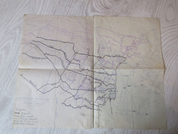 MILITARIA - PLAN DE COMBAT GUERRE 14/18 SOUS SECTEUR - MADELEINE - Documenten