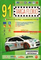 MOTORING - ITALIA - BROCHURE PROGRAMMA UFFICIALE 91^ TARGA FLORIO - PALERMO 4/6 MAGGIO 2007 - Motori