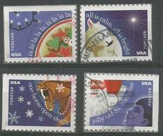USA 2017 Contemporary Christmas Xmas Stamps SC.#5247/50 Cpl 4v Set VFU - Used Stamps